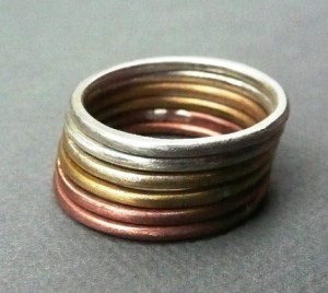 Sterling Silver, Copper and Brass Rings