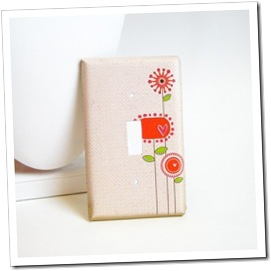 Modern Flowers Decorative Light Switch Cover by Able Mabel on Etsy