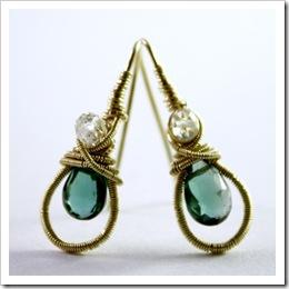 Gemstone Earrings by PoetryJewelry on Etsy