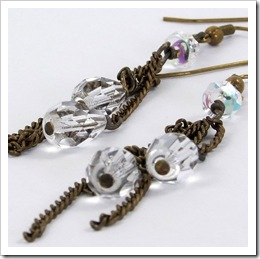 Brass Chain & Crystal Teardrop Earrings_03
