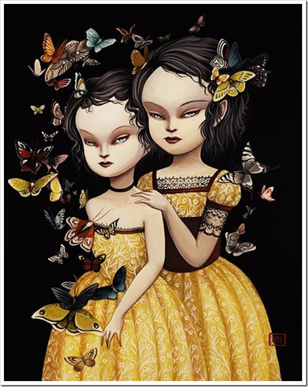The Moth Sisters - Faye and Daphne - by Mab Graves