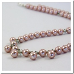 Bridal Pearl Necklace in Dusky Rose_06