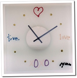Translucent Girly Clock by TimelyImpressions on ArtFire