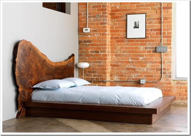 Claro Walnut Headboard & Bed Frame by Walnut St on Etsy