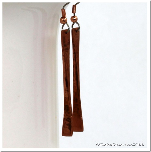 Hammered Copper Fan Earrings_22