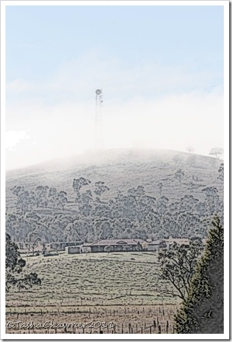 Day 151 - A Tower Over Walcha Pencil Sketch