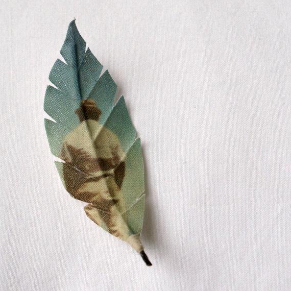 Strawberry Tree Leaf Brooch