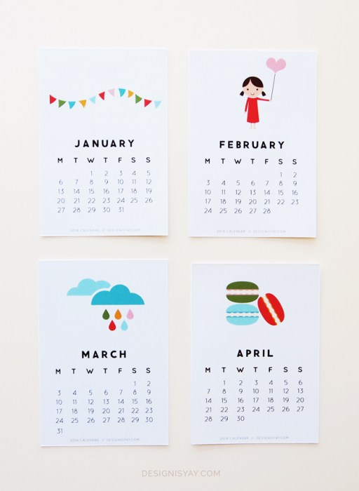 Year of Colour Calendar by Design is Yay