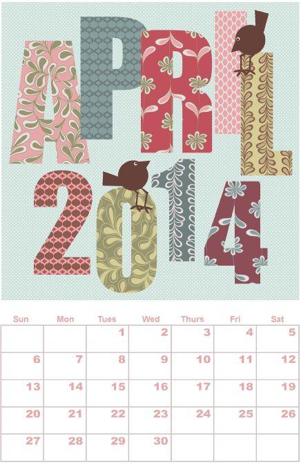 Etsy Digital Designers 2014 Calendar