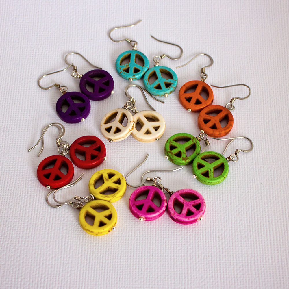 en earrings drevene reky big wooden river nausnice barevne colourful malovane painted detail