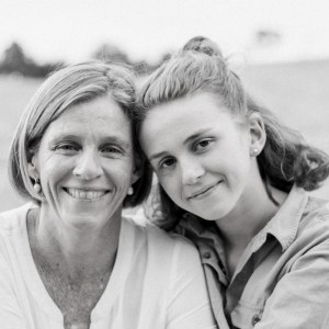 mother-daughter cuddles