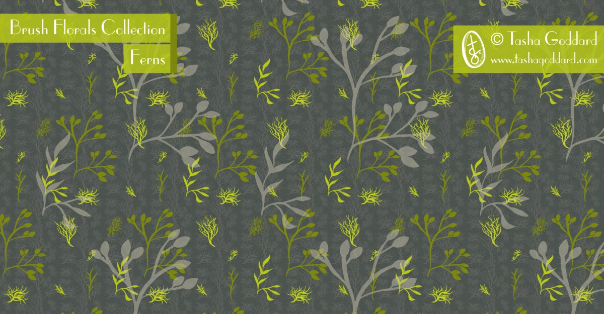 Brush Florals Collection: Ferns   © Tasha Goddard   www.tashagoddard.com