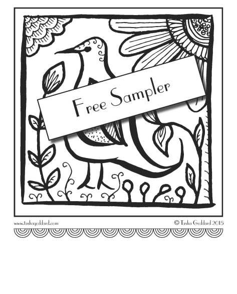 Inktober Colouring Book Free Sampler by Tasha Goddard | www.tashagoddard.com
