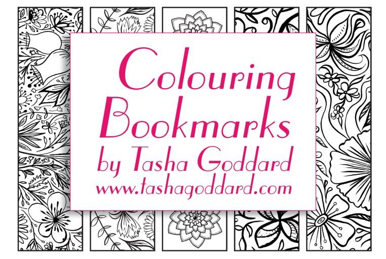 Floral Colouring Bookmarks | © Tasha Goddard | www.tashagoddard.com