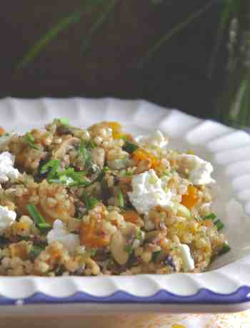 Buckwheat Pilaf w/ Pumpkin & Mushrooms