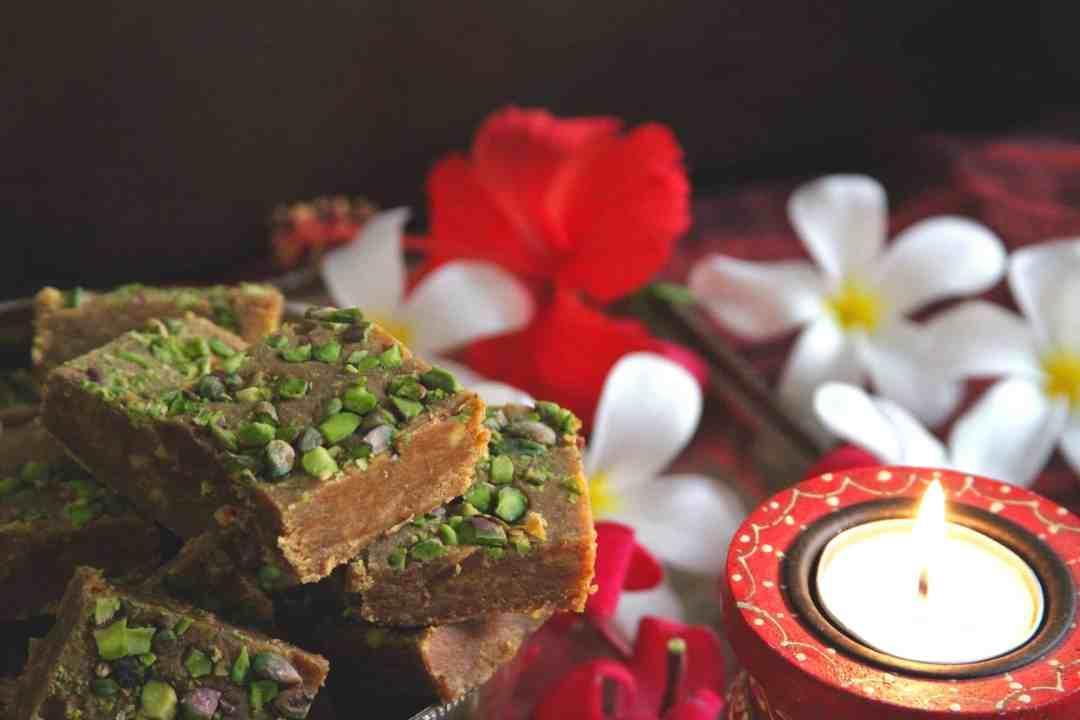 Besan Burfi Diwali Festive Food Dessert Indian Cuisine