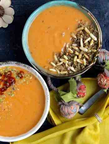 Roasted Sweet Potato and Pumpkin Soup