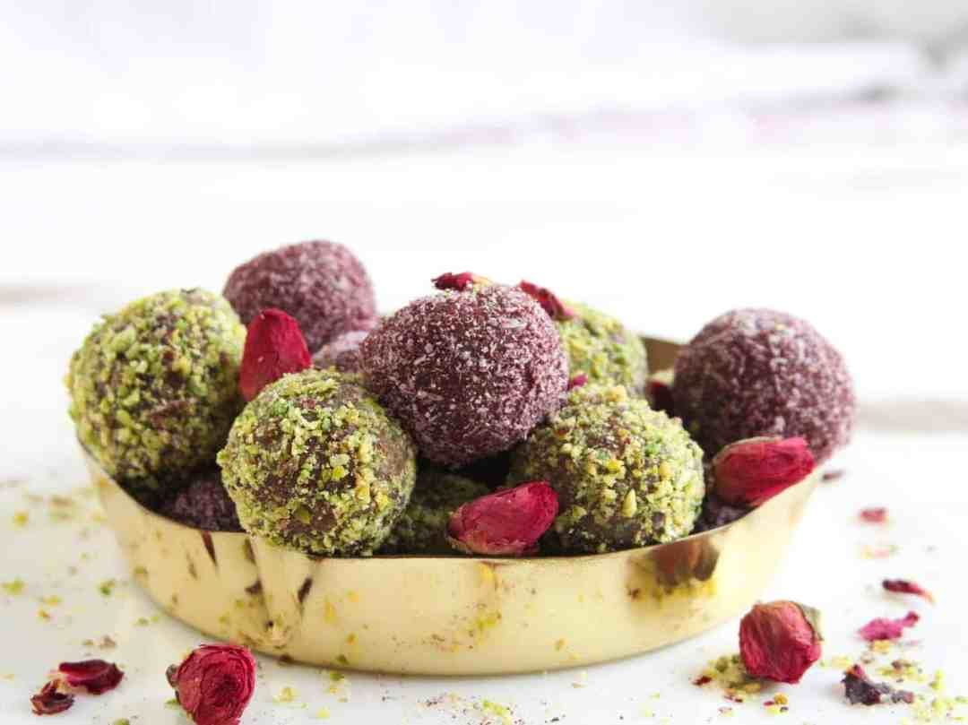 Coconut Almond Rose Bliss Balls