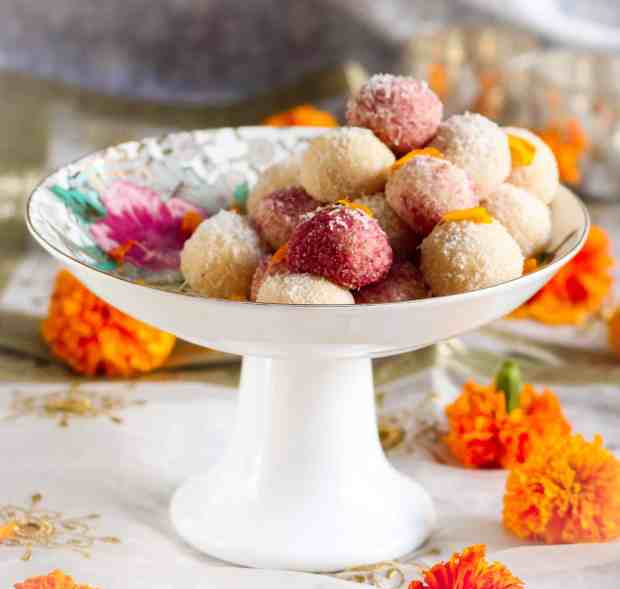 Easy Coconut Ladoo ( laddu), vegetarian, festive season, Diwali, dessert, sweet, Indian dessert | 8 Indian Sweets Recipes For Diwali