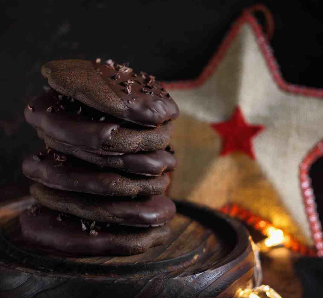 Glutenfree Mocha Shortbread Cookies buckwheat, amaranth, jaggery, refined sugar free, honey
