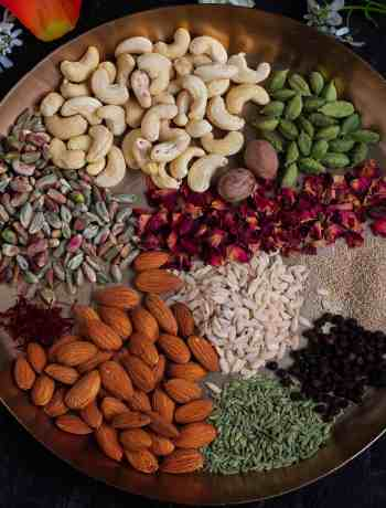 Instant Thandai Masala Mix nuts, spices, vegan,healthy, homemade, drink, Holi special