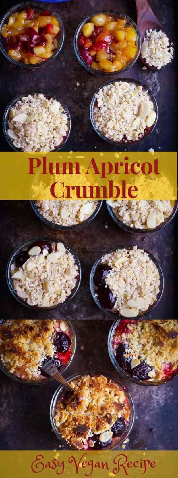 Plum Apricot Crumble vegan easy summer baking