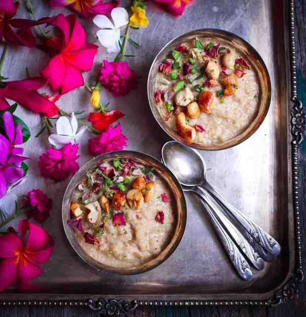 Almond Millet Kheer (Pudding) healthy refined sugarfree glutenfree recipe