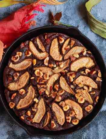 Chocolate Pear Amaranth Cake glutenfree dairyfree refined sugarfree one - bowl Fall recipe