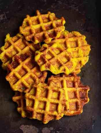 Sweet Potato Cornmeal Waffles easy healthy glutenfree recipe