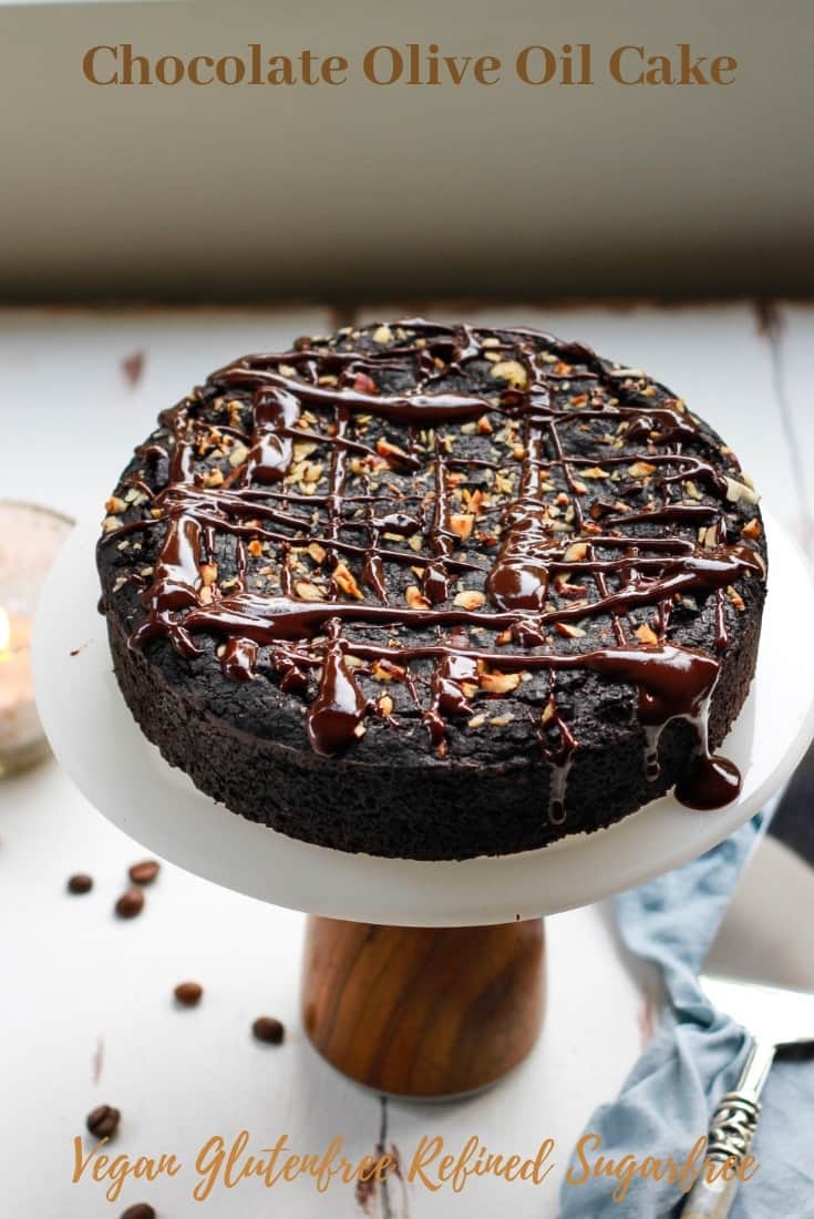 Chocolate Olive Oil Cake vegan glutenfree refined sugarfree easy recipe