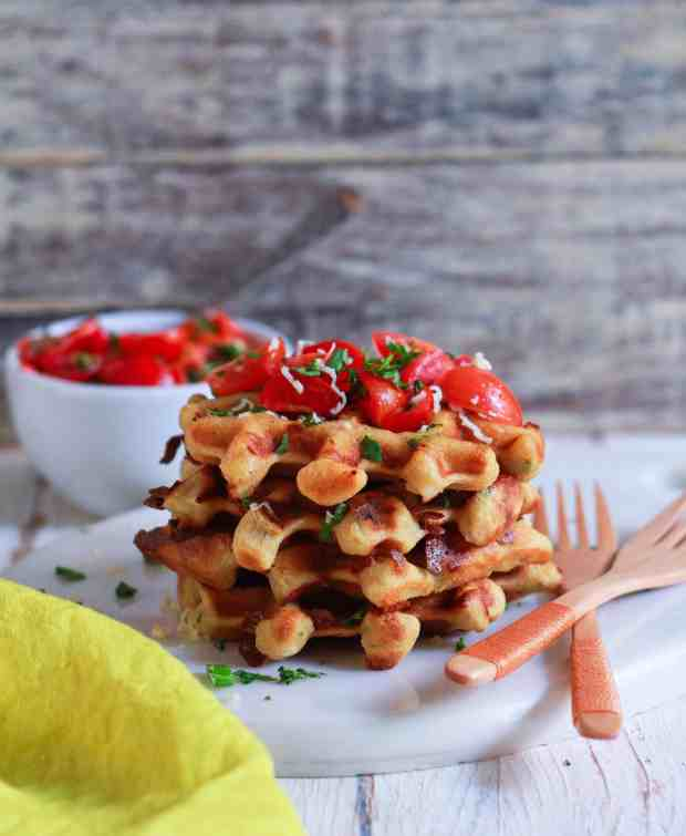 Easy Cheese Waffles savory healthy easy recipe