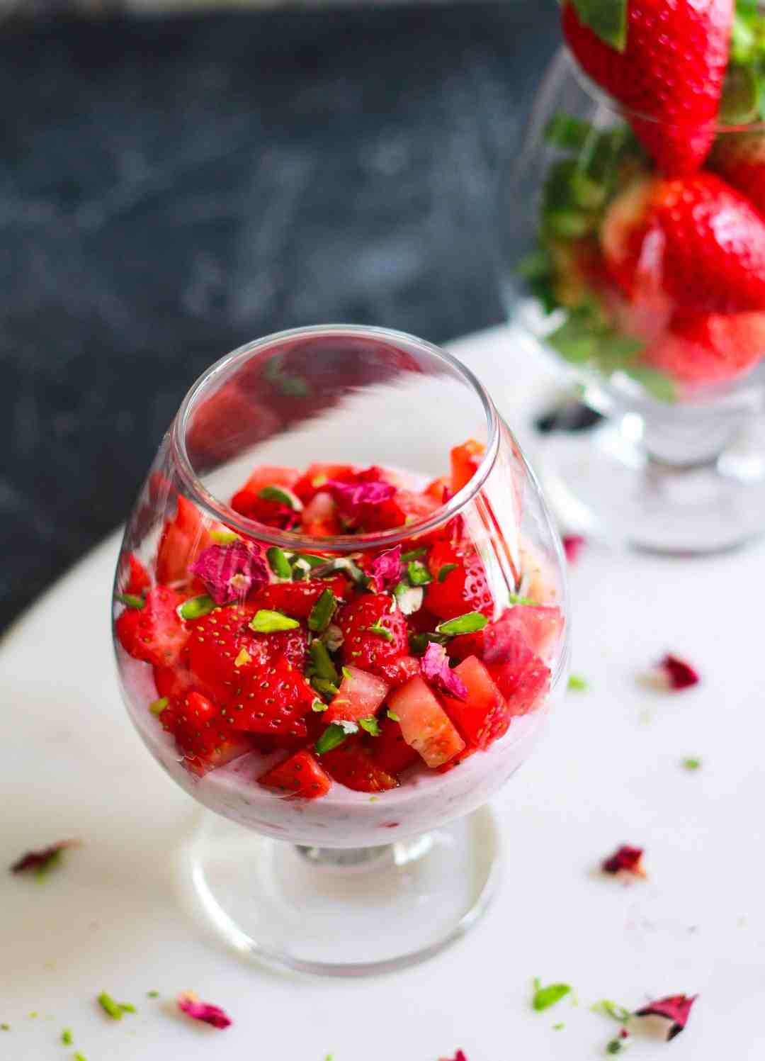 Strawberry Rose Chia Pudding glutenfree easy healthy recipe