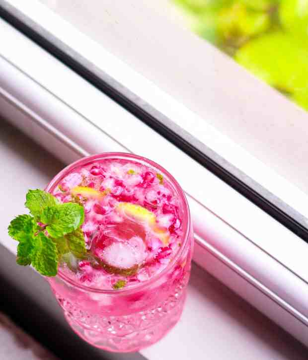 Pomegranate Mojito  cool crisp summer cocktail