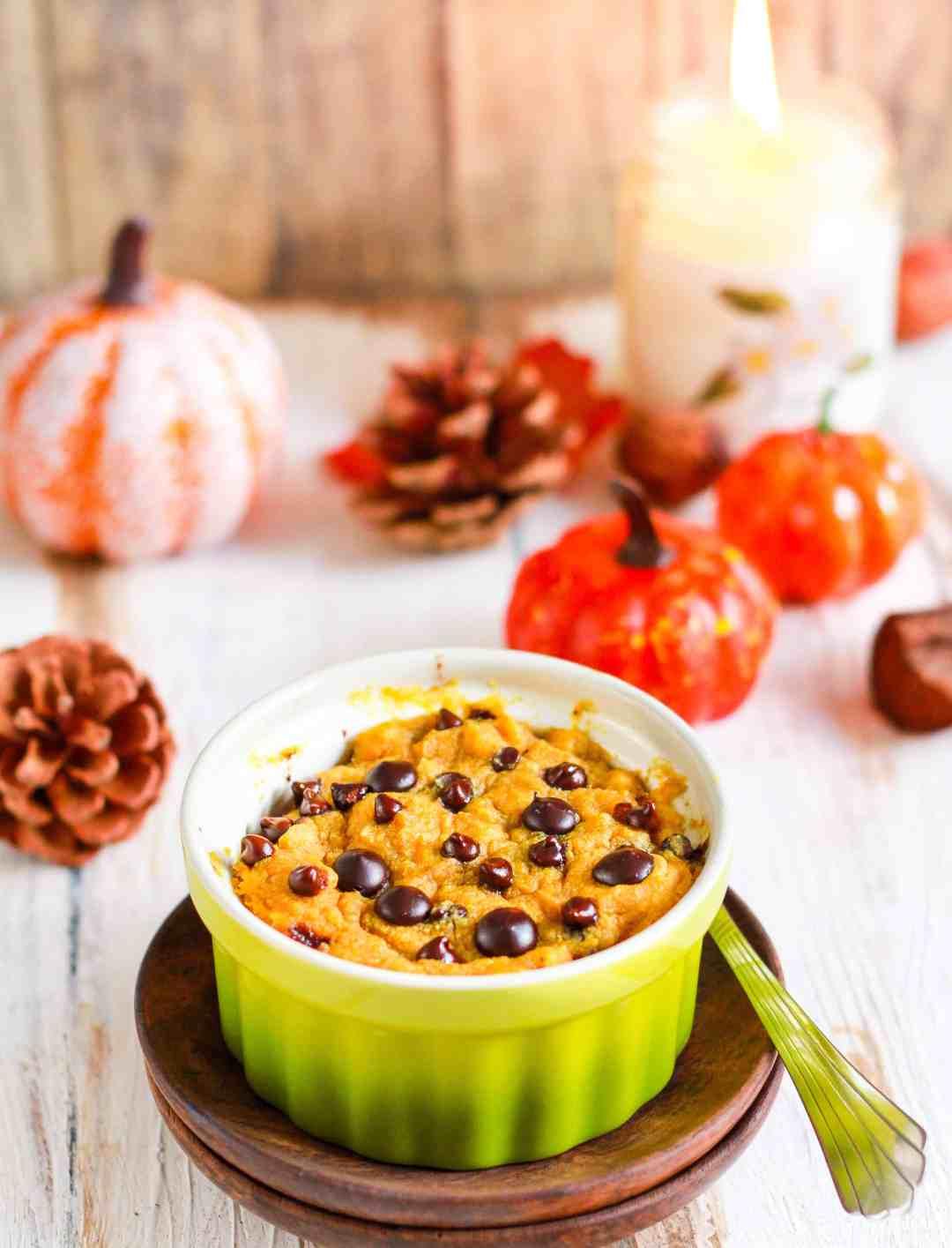 Pumpkin Mug Cake   vegan glutenfree recipe