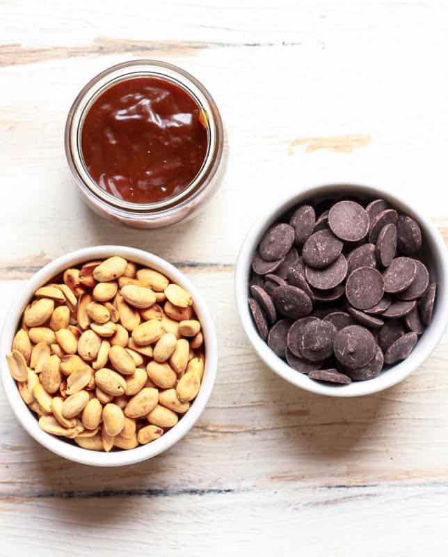 Vegan Caramel Peanut Clusters glutenfree refined sugarfree dairyfree