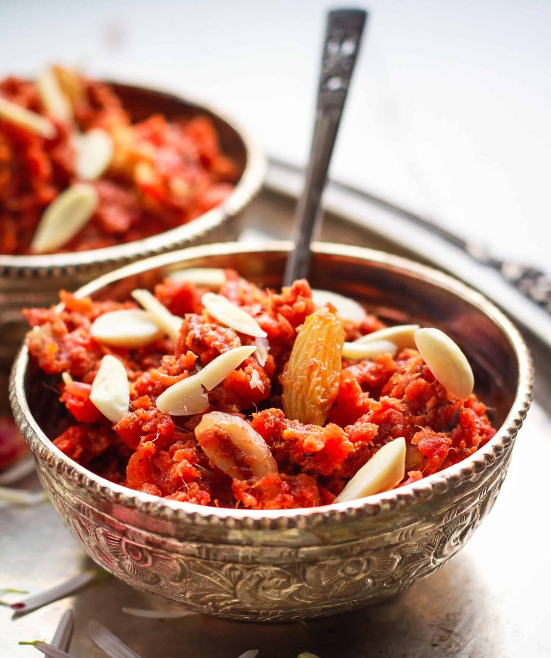 Gajar ka Halwa ( Carrot Halwa) vegan dairyfree glutenfree refined sugarfree Indian Dessert