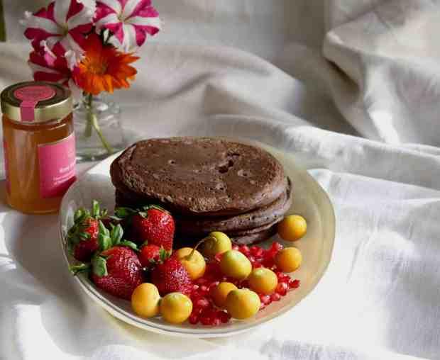 Chocolate Banana Buckwheat Pancakes