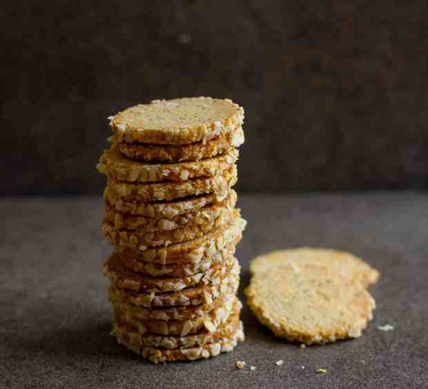 Homemade Wholegrain Ajwain (Carom seed) Crackers