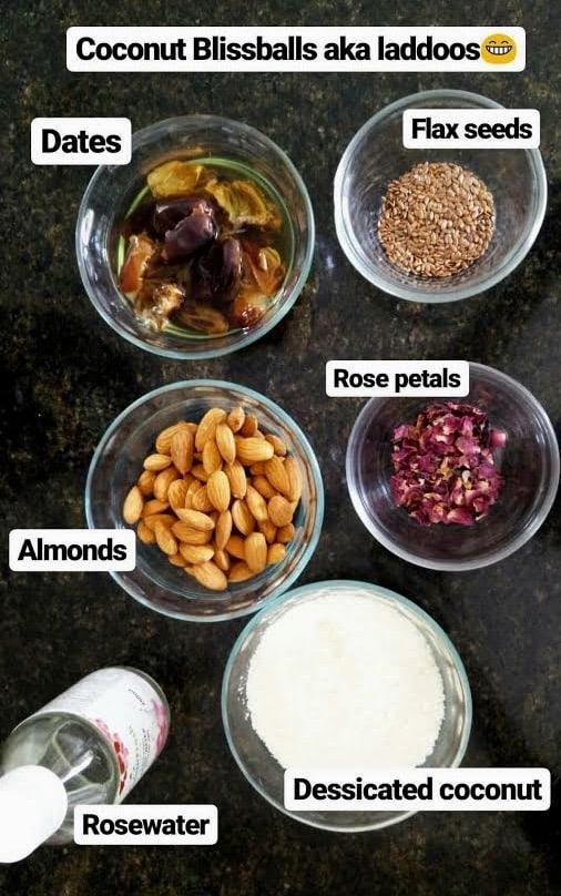 Coconut Almond Rose Bliss Balls