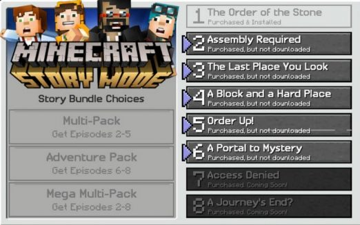 free download of minecraft story mode full version