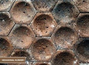 Seramik Blok Duvar Kaplama Hexagonal Klinker