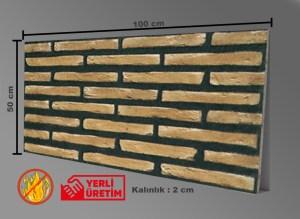 İnce Tuğla Desenli Strafor, Tuğla Duvar Paneli, STD-440
