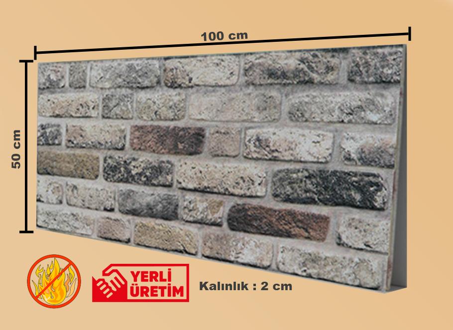Tuğla Desenli Strafor, Tuğla Görünümlü Strafor, Tuğla Duvar Paneli, STD-135