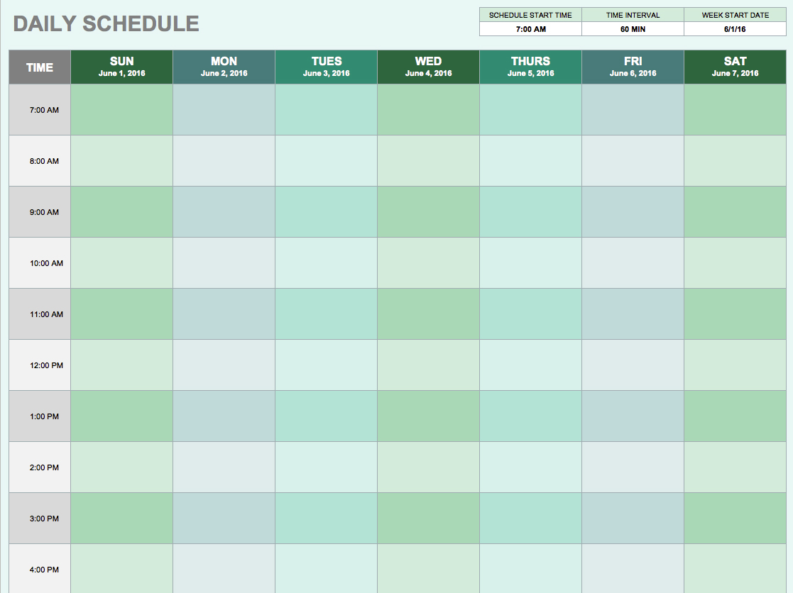 Daily Planner Template Excel Task List Templates
