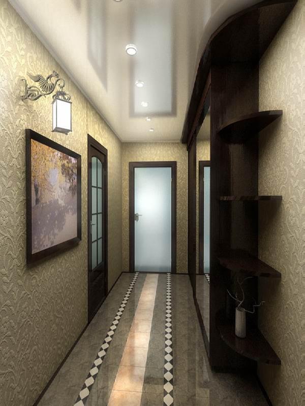 прихожая для узкого коридора дизайн фото 3