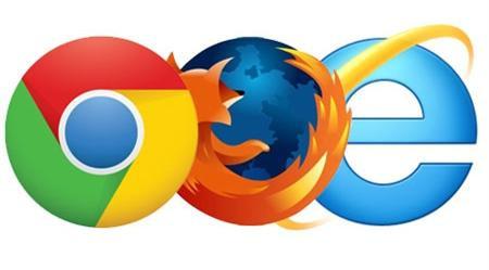 Internet browser logos chrome firefox explorer