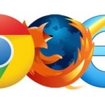 Internet browser logos chrome firefox explorer