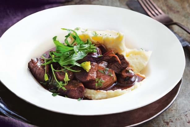 30-minute beef bourguignon