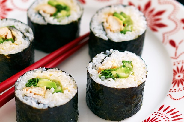 Image result for chicken corn and mayo sushi