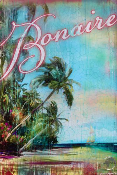 An antique promotional poster for Bonaire.